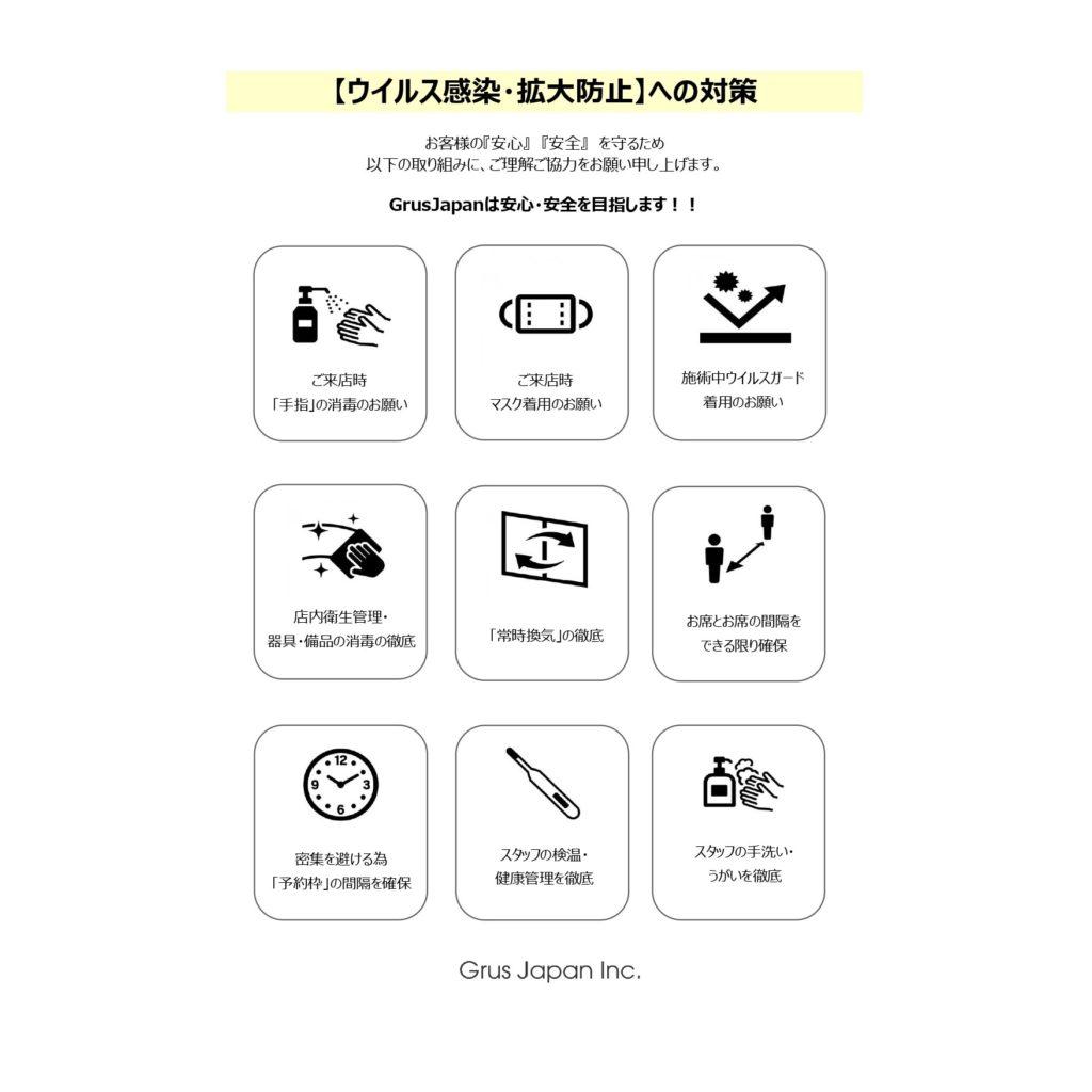 2021年4月25日より「緊急事態宣言」発令に伴い、Grus Japanよりお知らせです。
